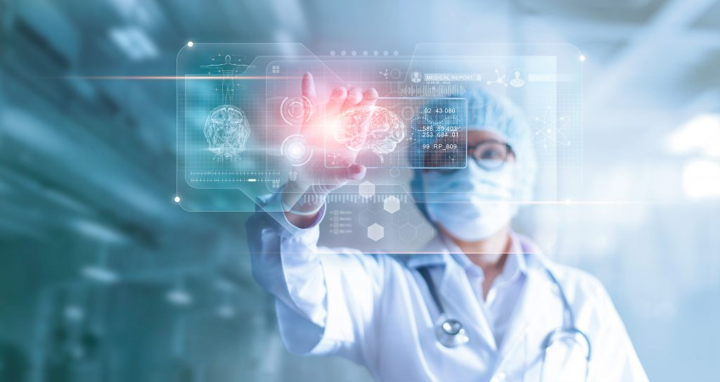 picture of a surgeon analysing data