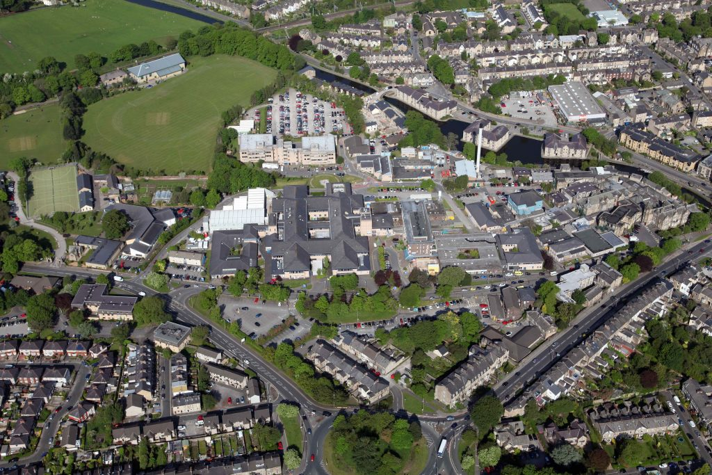 birds eye view picture of the royal lancaster infirmary site