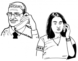 Graphic of a Doctor on the phone