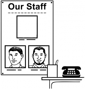Graphic of a job advert