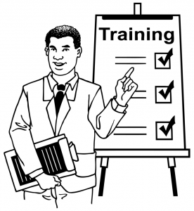Graphic off a professional providing training