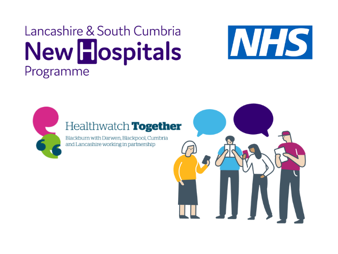 graphic of a group of people with the Healthwatch Together logo