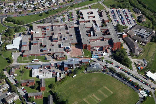 Birds eye view picture of Furness General Hospital estate